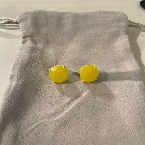 Crew Stud Earrings Neon Yellow